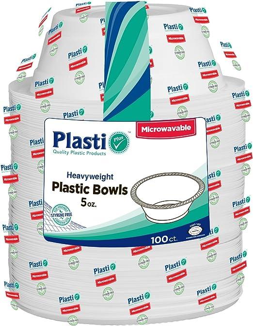 Amazon.com: Plasti Plus - Cuencos desechables de plástico ...