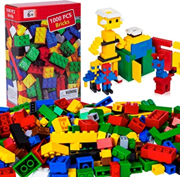 iNeego Costruzioni 1000 Pezzi Costruzione Mattoni Blocchi Giocattoli Costruzione Costruzione Mattoni Giocattolo colorato Gioco per Bambini Giocattoli