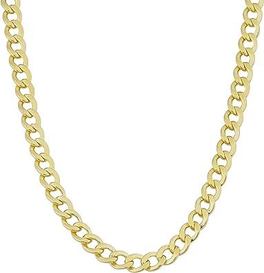 Mens Chain Women/'s  chain 18 K Gold Filled Necklace Gold Chain 4mm Curb Chain Gold Filled Jewelry Unisex Chain Cuban Link Chain