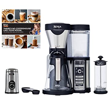 Amazon.com: Refurbished Ninja espumador de café Bar, jarra ...