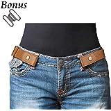 78e06ae3d56 No Buckle Stretch Belt For Women Men Elastic Waist Belt Up to 33