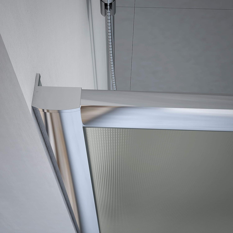 Crocket Kit Mampara de Ducha Frontal New Carglass + Plato de Ducha de Resina Stone + Puerta Corredera Cristal - Incluye Sifón y Rejilla - Gris RAL 7040-100 x 100 (Adaptable 97 a 100 cm): Amazon.es: Hogar
