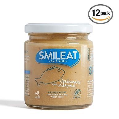 Smileat, Potito ecológico para bebé (Merluza con verduras) - 12 de 230 gr