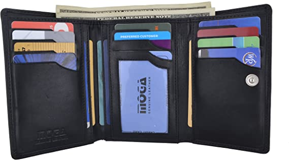 Moga Large Capacity Women Wallet Genuine Leather Clutch Wallet Card Holder