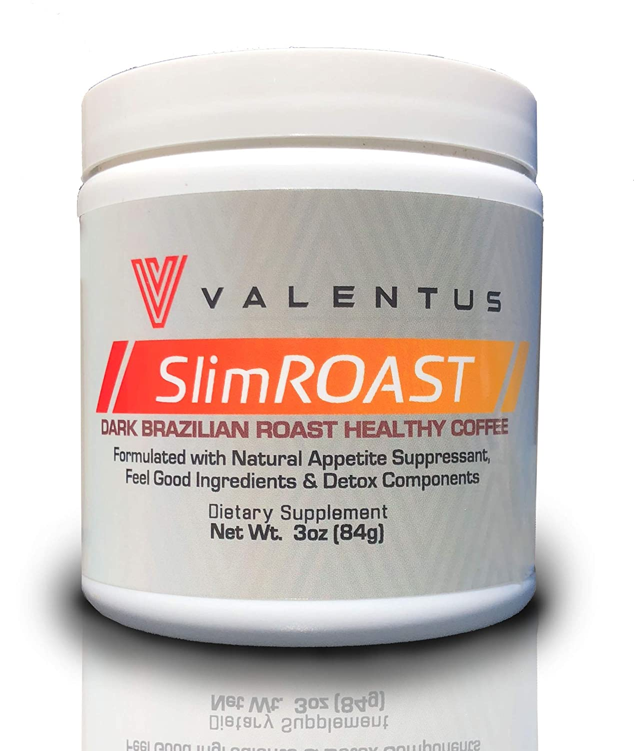 B01JH12QO0 Valentus Slim ROAST Brazilian Dark Roast Coffee 3 Oz. | 24 Servings 81GxavrQ7LL
