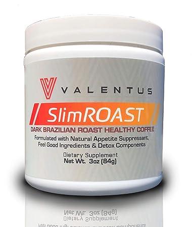 Valentus Brazilian Slim Roast Coffee Dark Roast 3 Oz Canister 24 Servings