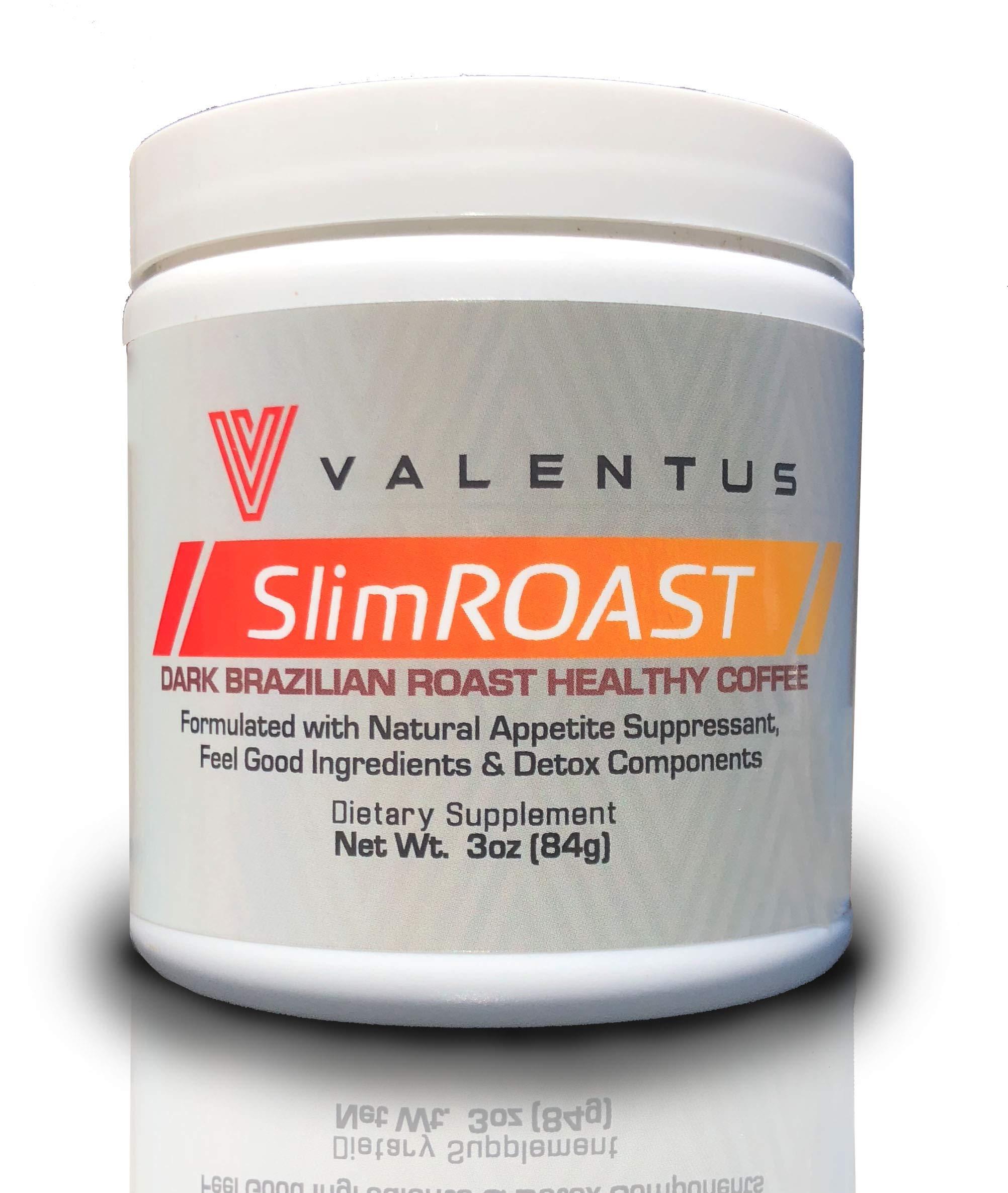 Valentus Brazilian Slim Roast Coffee - Dark Roast 3 Oz. Canister (24 Servings)