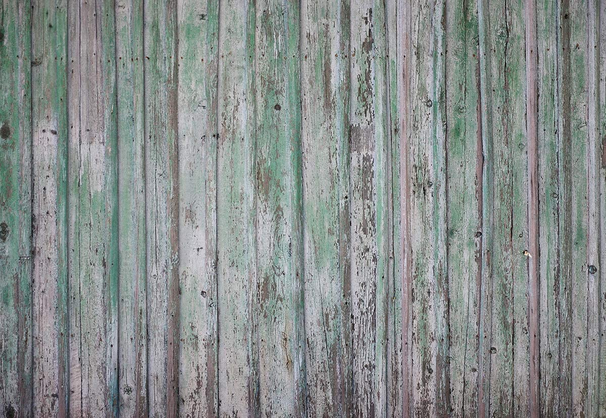 8x8ft Microfiber Soft Fabric Retro Light Green Wood Wall Photography Backdrops Wood Floor Photo Backgrounds for Photoshoot