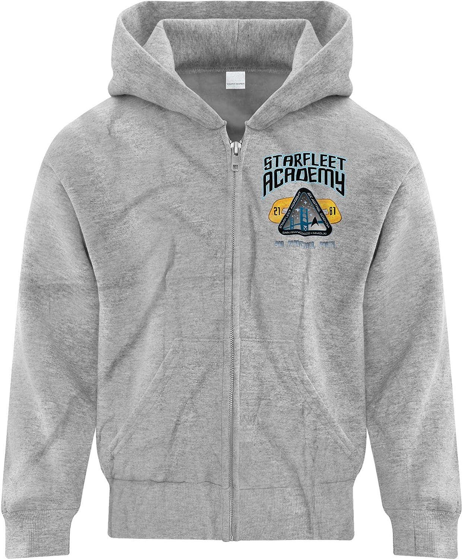 BSW Youth Boys Star Trek Starfleet Academy Jersey Style Zip Hoodie