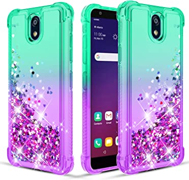 Amazon Com Donse Lg K30 2019 Case Lg Escape Plus Case Lg Arena 2 Lg Journey Lte Lg Tribute Royal Phone Case W Hd Screen Protector 2 Pack Four Corner Quicksand Slim Shockproof Protective Clear Mint Purple Electronics