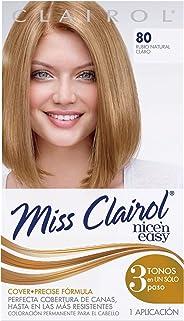 Miss Clairol Tinte Líquido para Cabello, Rubio Natural Claro - 80