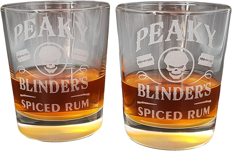 Peaky Blinders Juego de cuatro copas de Ron especiado: Amazon ...
