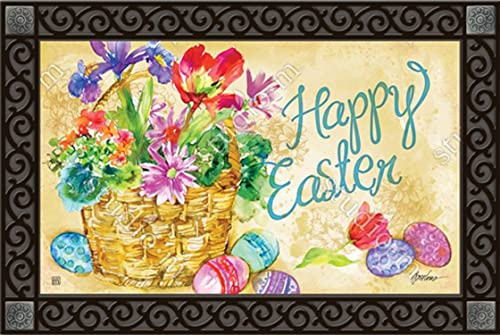 Easter Beauty Doormat Indoor Outdoor Floral MatMates 18 x 30