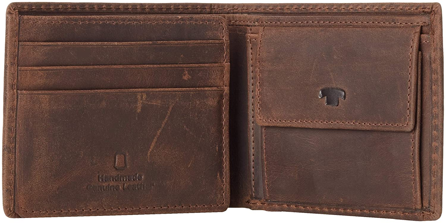 Men/'s Wallet Braun Tom Tailor Acc Ron Brown 10.5x8.5x1.5 cm B x H T