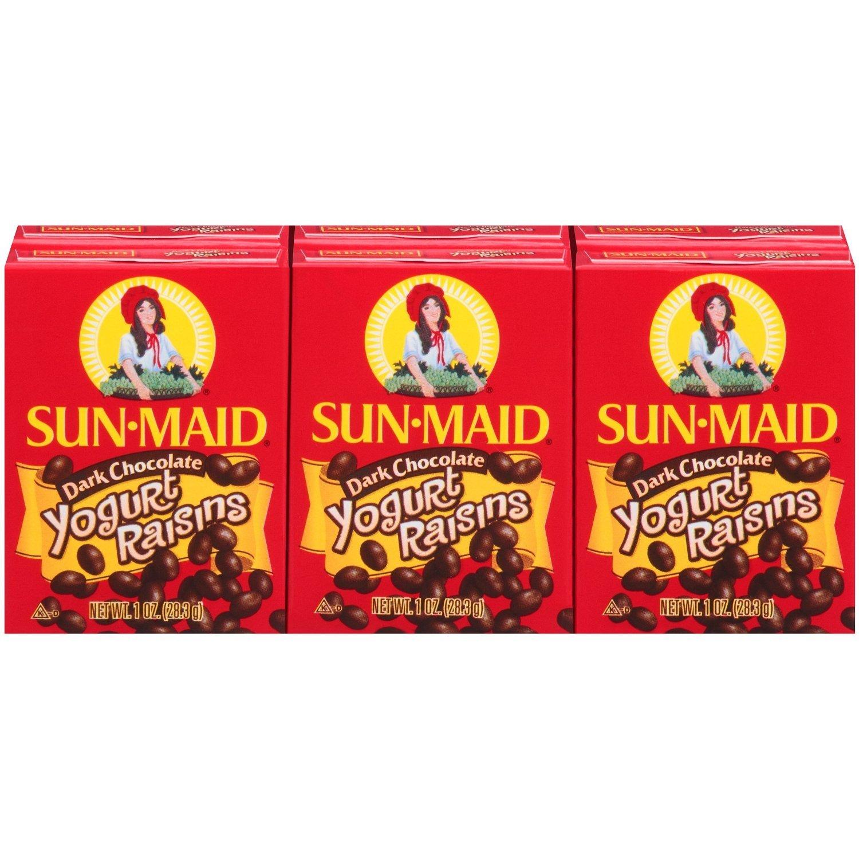 Sun-Maid Dark Chocolate Yogurt Raisins, 6 Pack (Pack of 3)