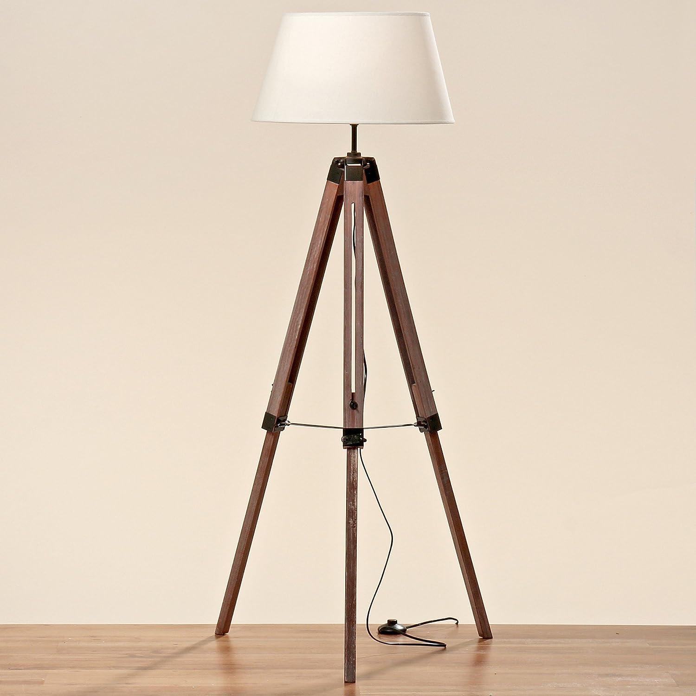 Entzückend Stehlampe Mit Schirm Dekoration Von Teleskoplampe 145cm Höhe Holz Stativ Lampe Teleskop