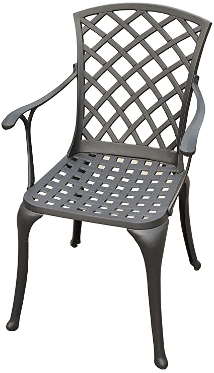 Amazing Crosley Furniture Sedona Solid Cast Aluminum Outdoor High Back Arm Chair Black Inzonedesignstudio Interior Chair Design Inzonedesignstudiocom