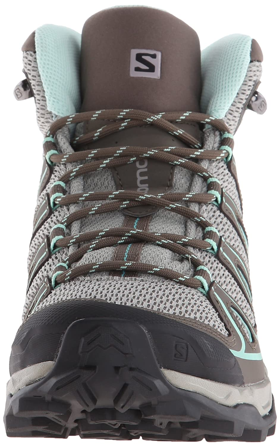 Salomon Women's X Ultra Mid Aero W Hiking Boot B00ZLN4KZW 5 B(M) US|Titanium/Swamp/Opaline Blue