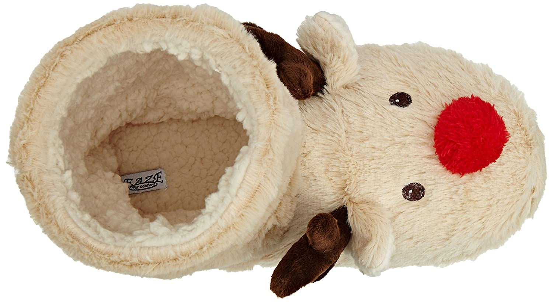 Spot On Reindeer Bootie Pantofole con Fodera Donna