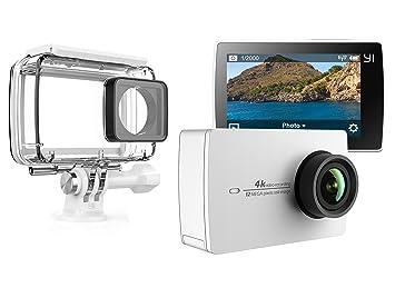 YI 4 K Action Camera Blanco con carcasa impermeable: Amazon ...