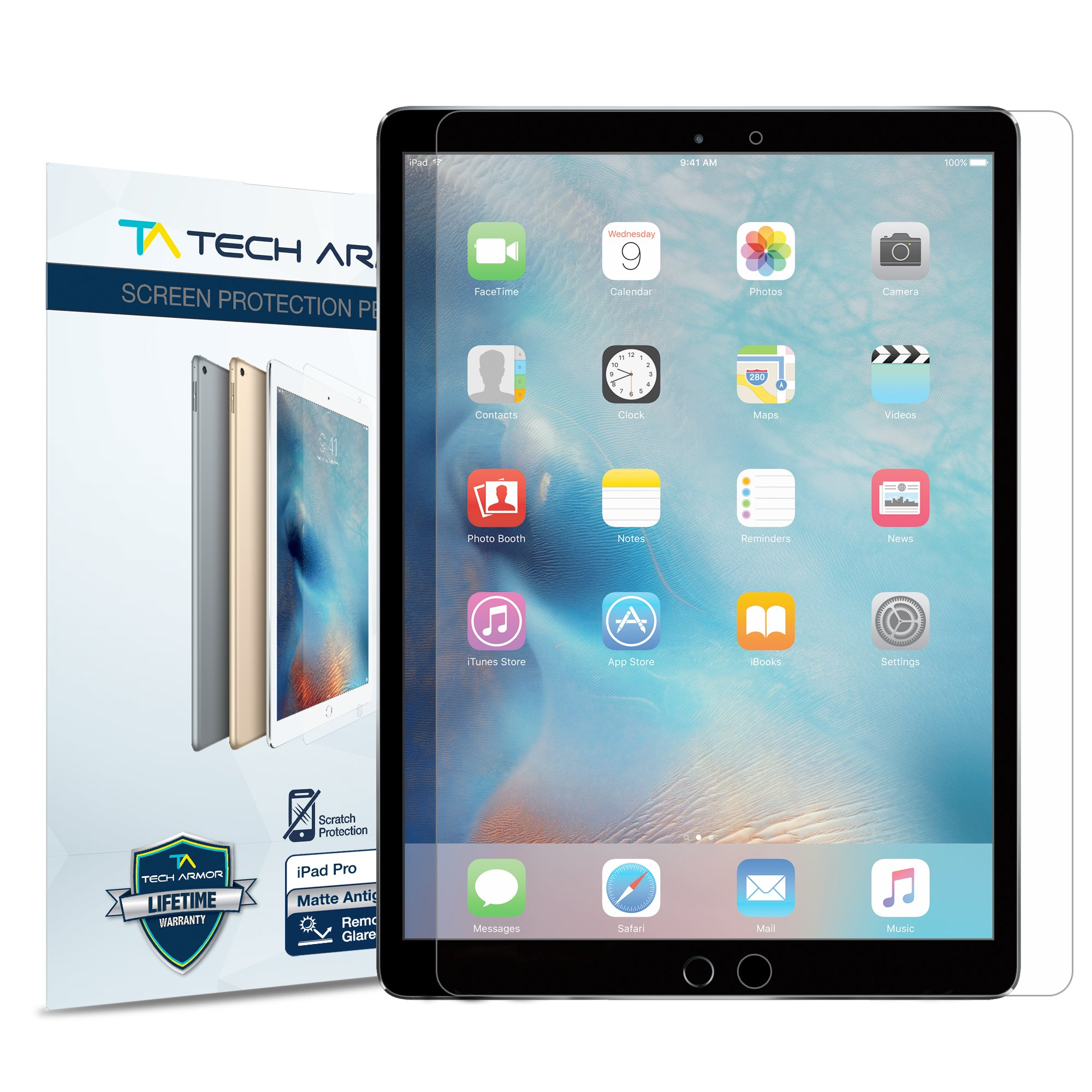 Tech Armor iPad Pro (12.9'') Anti-Glare Ballistic Glass Screen Protector for Apple iPad Pro 12.9-inch (NEW 2017) [1-pack]