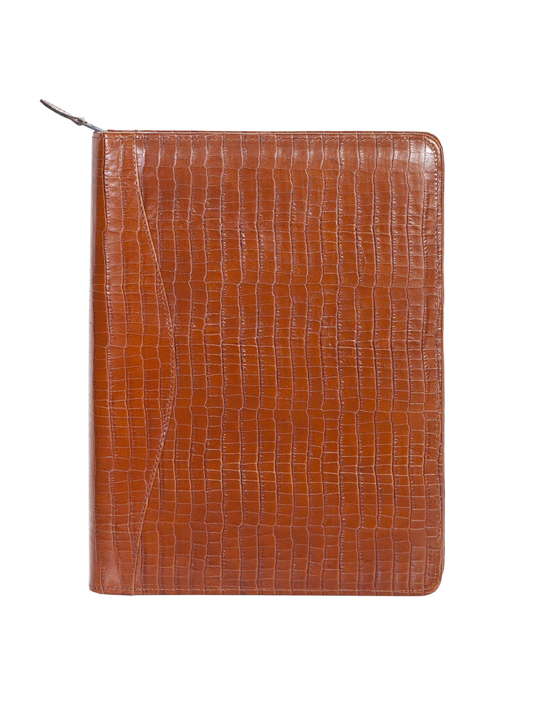 Scully Women's 5012Z Lizard Leather Padfolio (Brown)