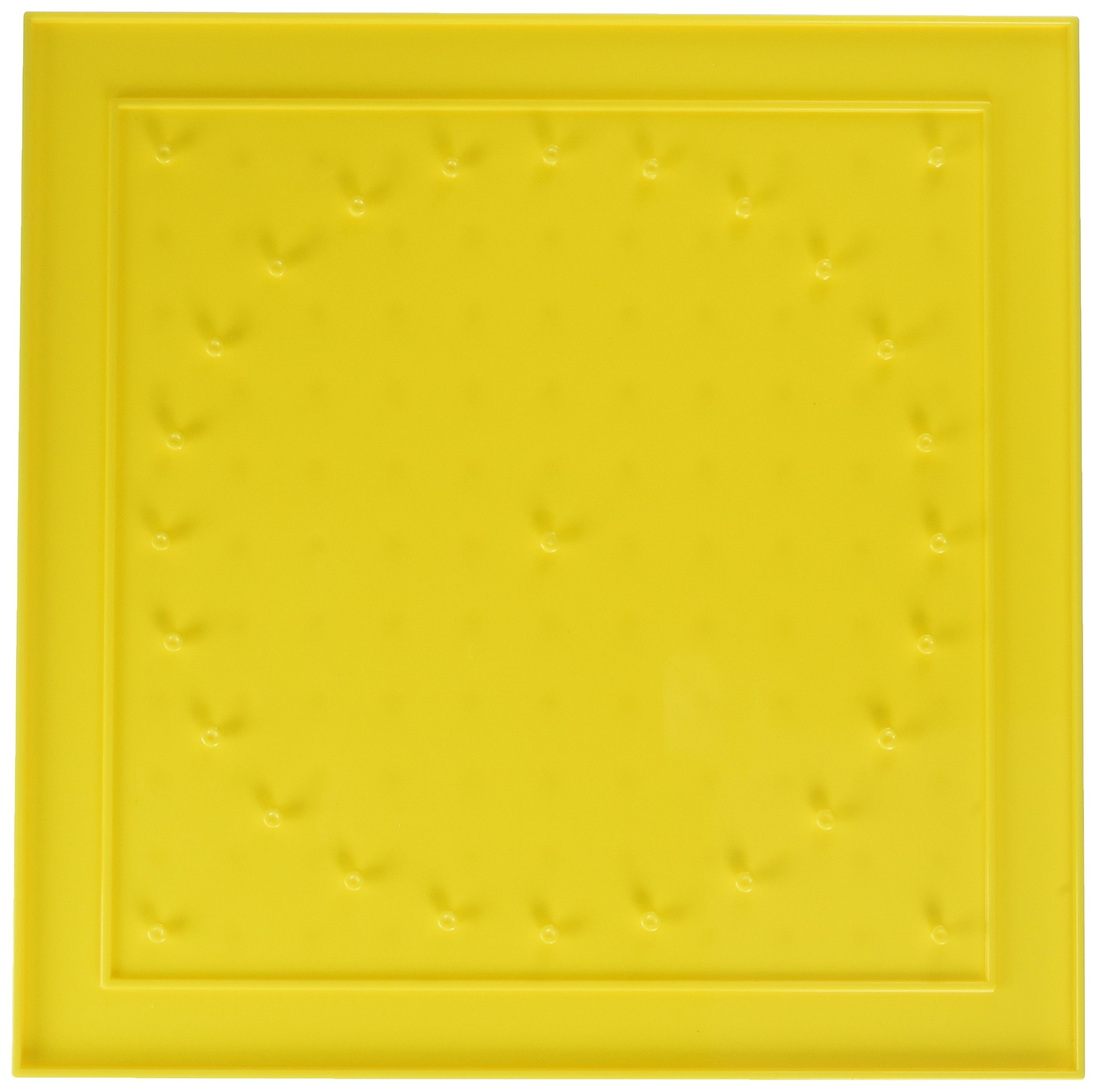 School Smart Geoboards with Rubber Bands - 10 1/2 x 10 1/2 - Set of 6 - Yellow