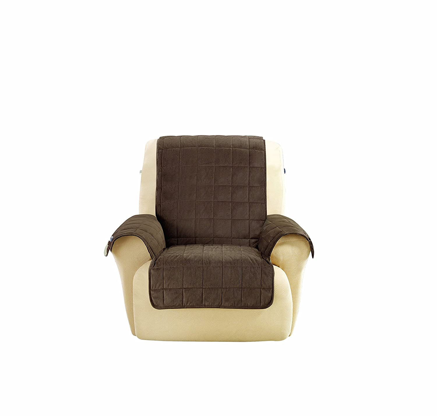 SureFit Deep Pile Velvet - Recliner Slipcover - Chocolate (SF43706) Sure Fit Inc.