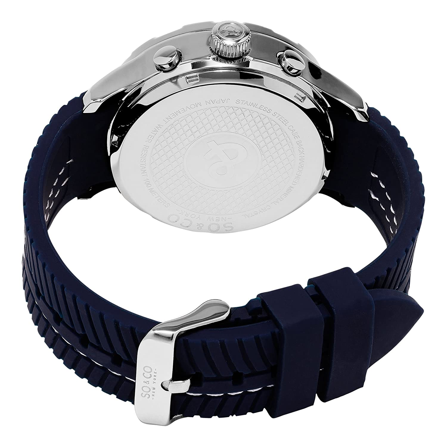 Amazon.com  SO CO New York Men s 5035.2 Monticello Analog-Digital Display  Navy Rubber Strap Watch  Watches 1a37f26fe0