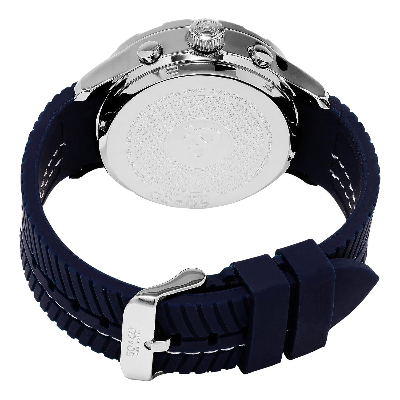 Amazon.com  SO CO New York Men s 5035.2 Monticello Analog-Digital Display  Navy Rubber Strap Watch  Watches 60950bdd35