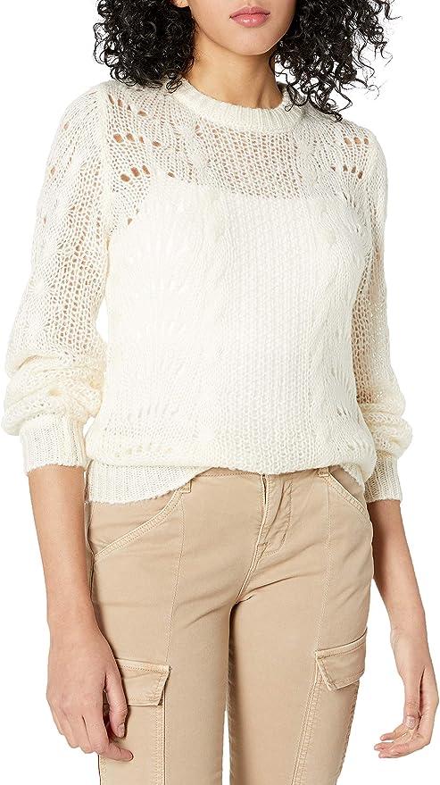 Jessica Simpson Womens Hazel Stylish Pointelle Pullover Sweater