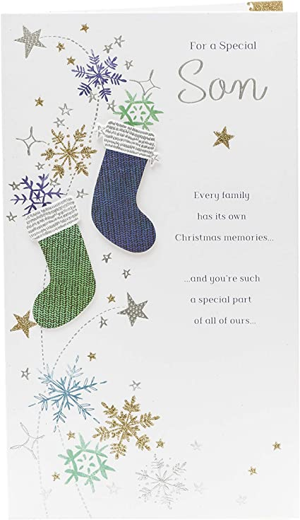 Son Christmas Card Christmas Gifts For Men Christmas Gift Card Traditional Christmas Verse Amazon Co Uk Office Products