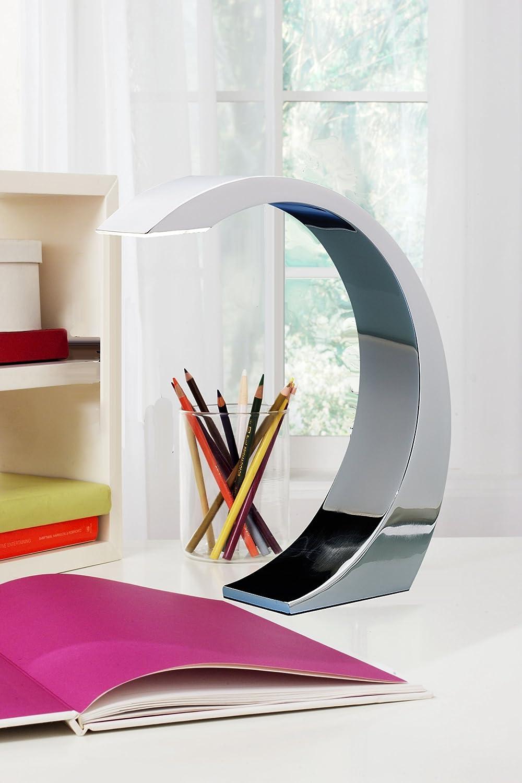LumiSource AD-ELEMENT3W Element Touch Table Lamp, Sleek Chrome Finish -  Indoor Figurine Lamps - Amazon.com