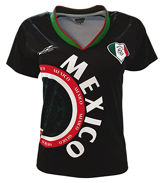 México camiseta de equipo de fútbol exclusiva Desin para mujer  Amazon.es   Ropa y accesorios 96478bd2049e5