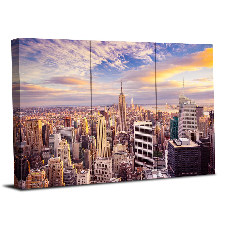 Royllent アートパネル 「シティービュー」 壁掛け 壁飾り DIYの楽しみ!リビングオフィス飲食店物販店モデルルームなどの施設に最適 (A) B01D9UWQGSA