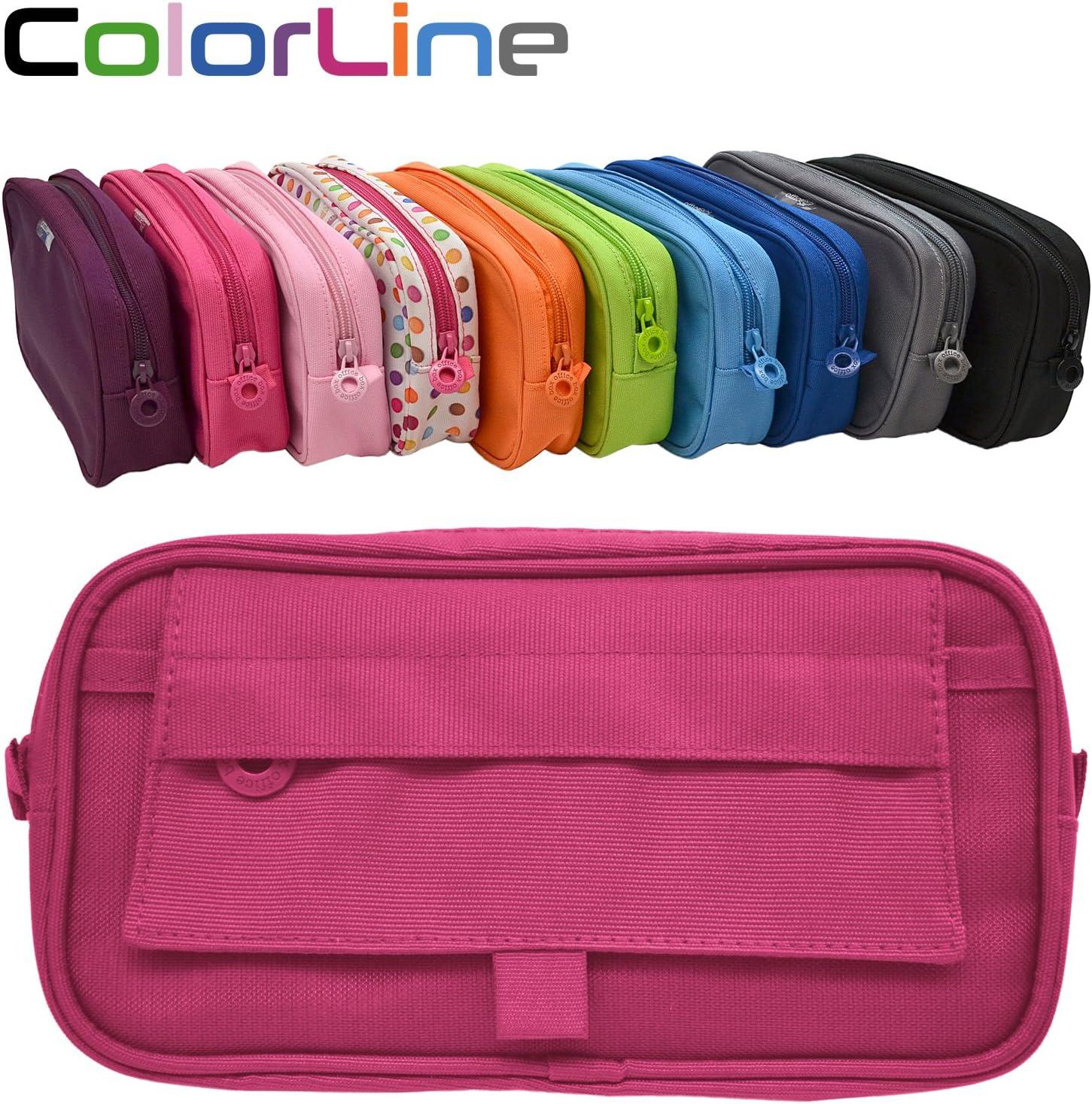 Colorline 59911 - Portatodo Xtra, Estuche Multiuso para Viaje, Material Escolar, Neceser y Accesorios. Color Azul Fucsia, Medidas 22 x 12.5 x 4 cm: Amazon.es: Oficina y papelería