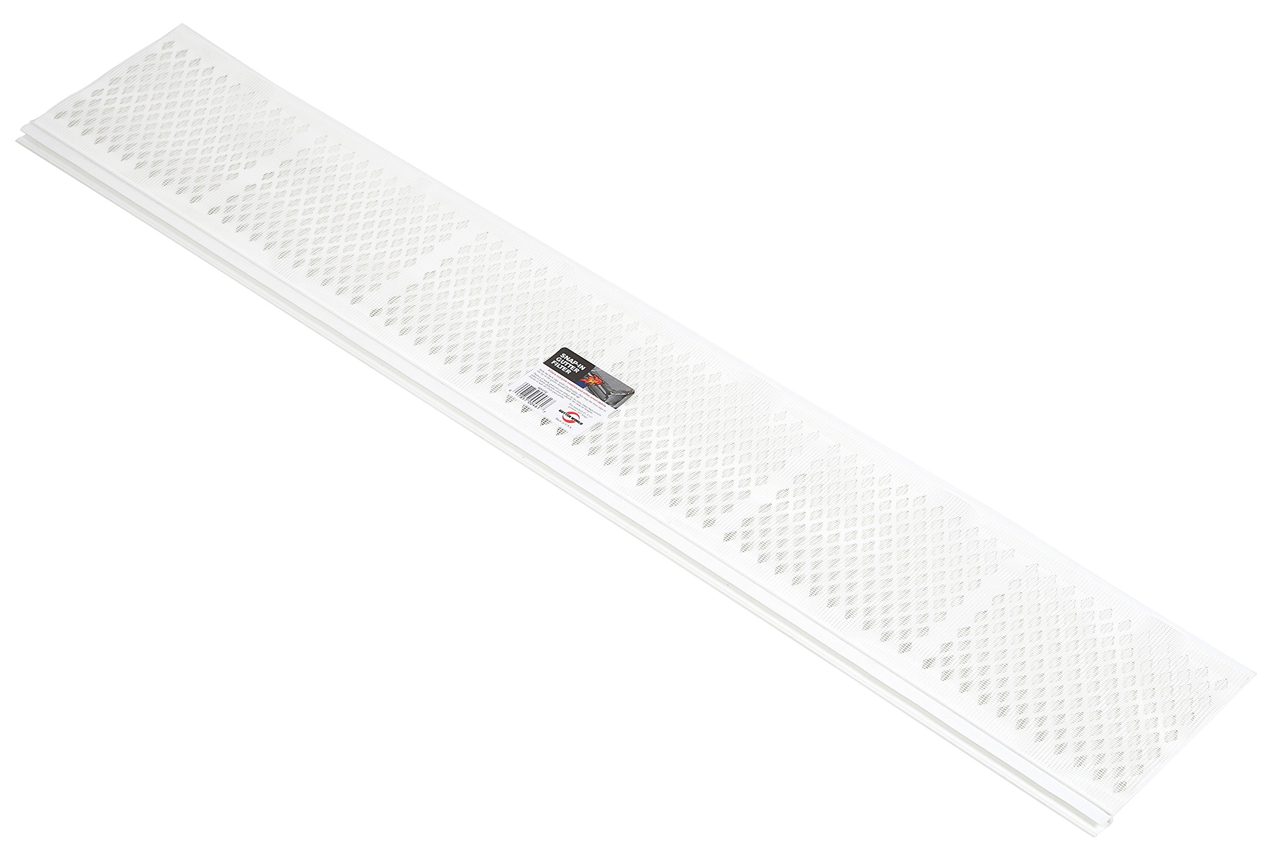 Amerimax Home Products 86670 Snap-In Filter Gutter Guard, White, 3'
