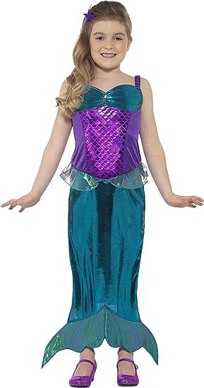 Smiffys Disfraz infantil de sirena mágica, disfraz de princesa ...