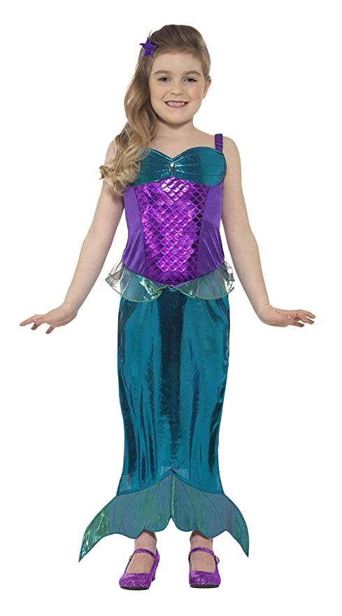 fabbricazione abile miglior prezzo più recente Smiffy's Costume da sirena per bambina, costume di carnevale