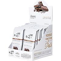 PAL'S Snacks barra de energía 100% natural y proteína, Vegana, sabor Chocolate Amargo y Chía, 50 gr, 18 barras