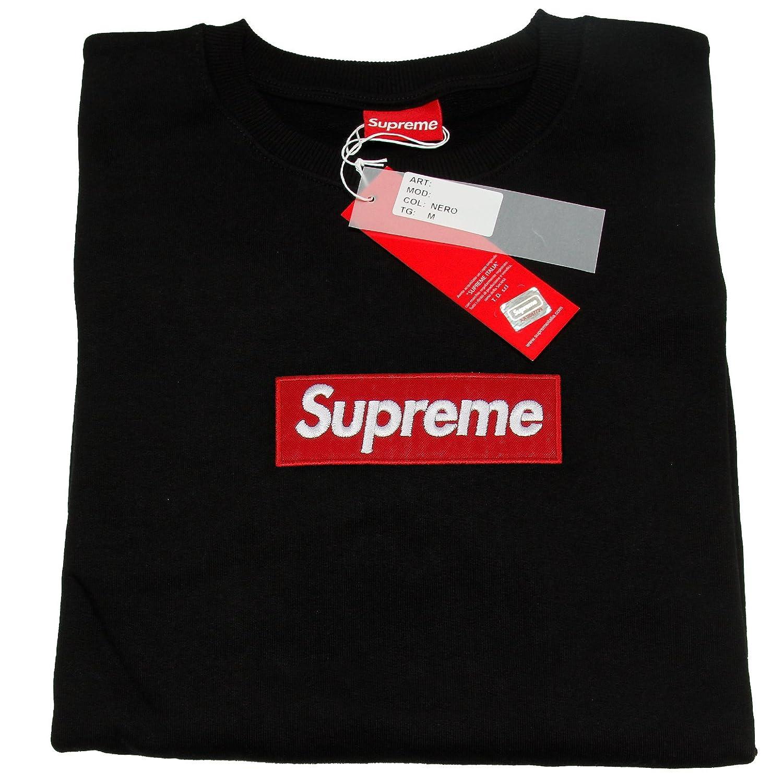0392b0c0827 Supreme Italia Herren Logo Patch Sweater Pullover Sweatshirt (S,  black-red): Amazon.de: Bekleidung
