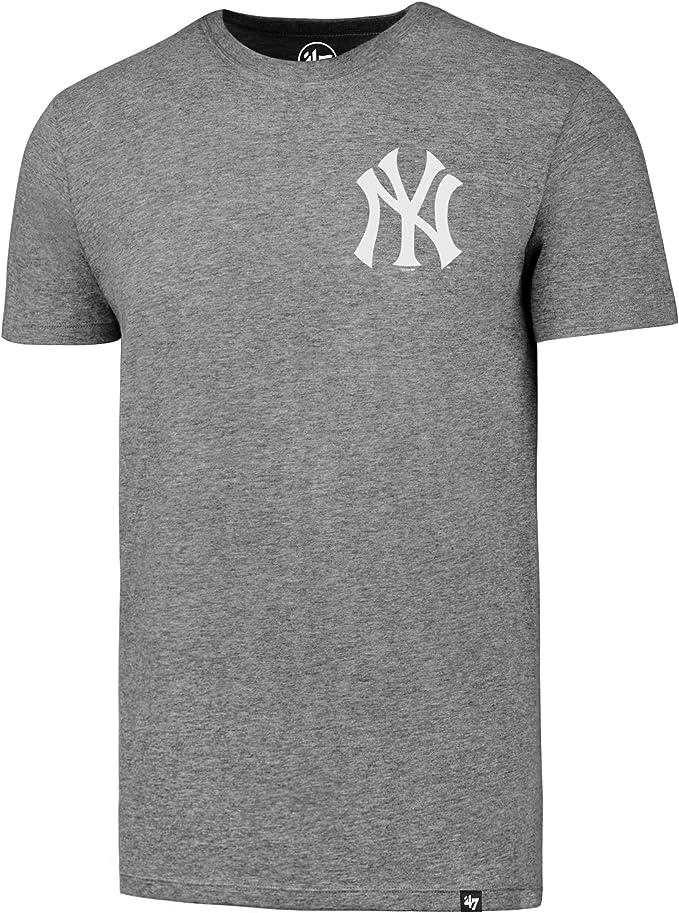 47 Brand New York Yankees – Camiseta oficial – MLB – MAJOR LEAGUE BASEBALL, Hombre, gris, L: Amazon.es: Deportes y aire libre