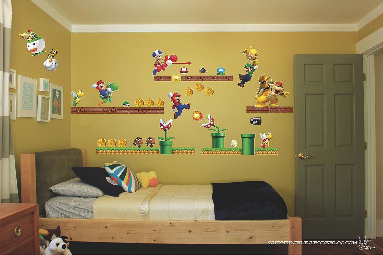 Amazon.com: Mario super mario bros Luigi Yoshi bowser 3D Wall Decal ...