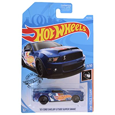 Hot Wheels Race Team 7/10 '10 Ford Shelby GT500 Super Snake 192/250, Blue: Toys & Games