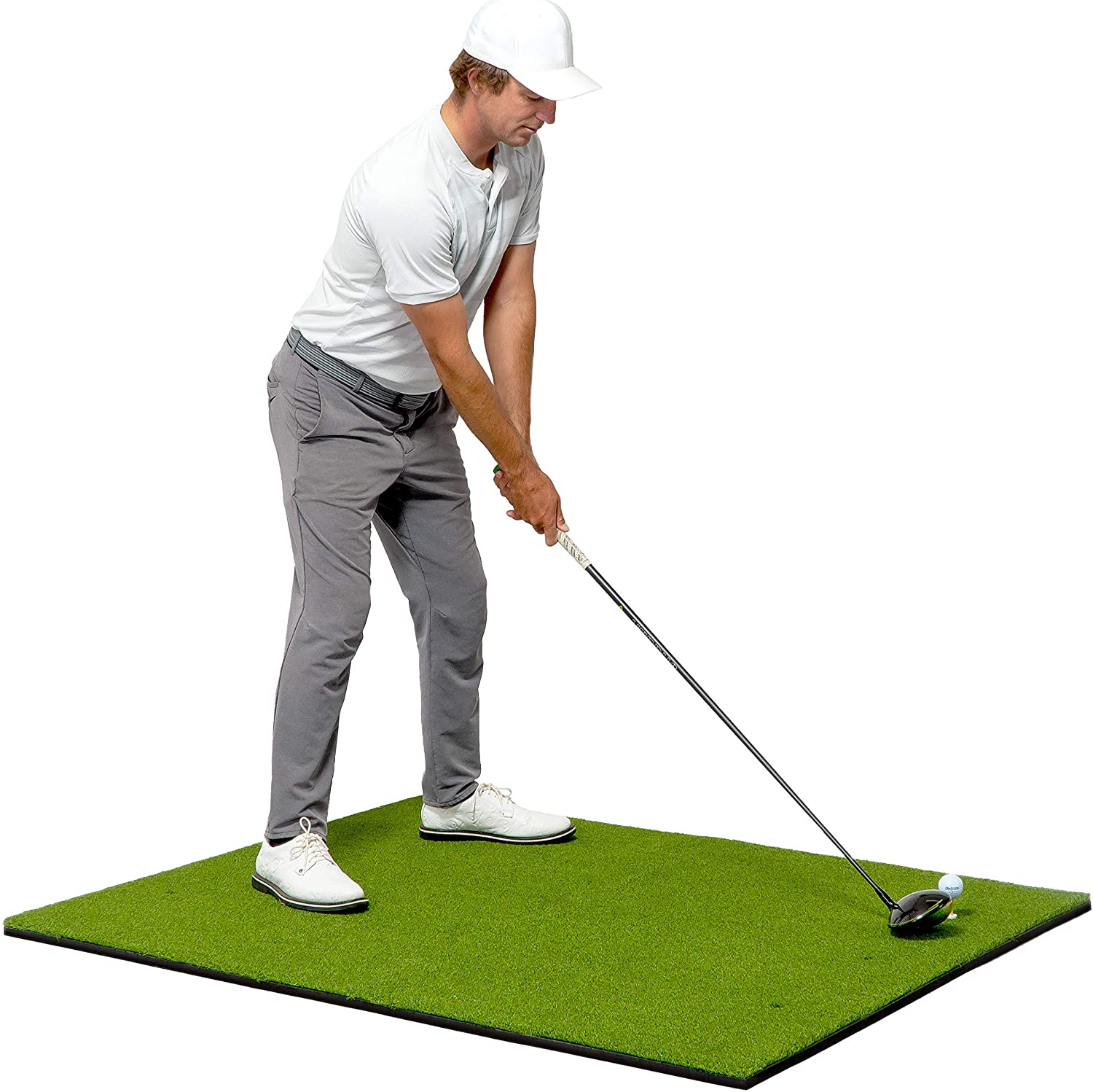 GoSports Golf Hitting Mats - Artificial Turf Mat for Indoor/Outdoor Practice - Choose Your Size - Includes 3 Rubber Tees