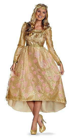 Disney Maleficent Princess Aurora Coronation Gown Deluxe Woman Costume