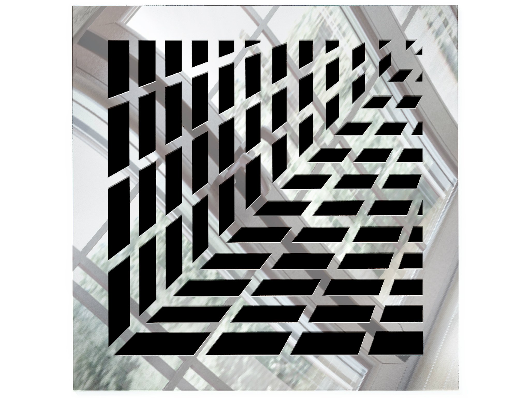 Saba Vent Covers Air Grille - Acrylic Fiberglass Register 8'' x 8'' Duct Opening (10'' x 10'' Overall) Mirror Finish Decorative Register for Walls, Ceilings NOT Floor use, Vivian
