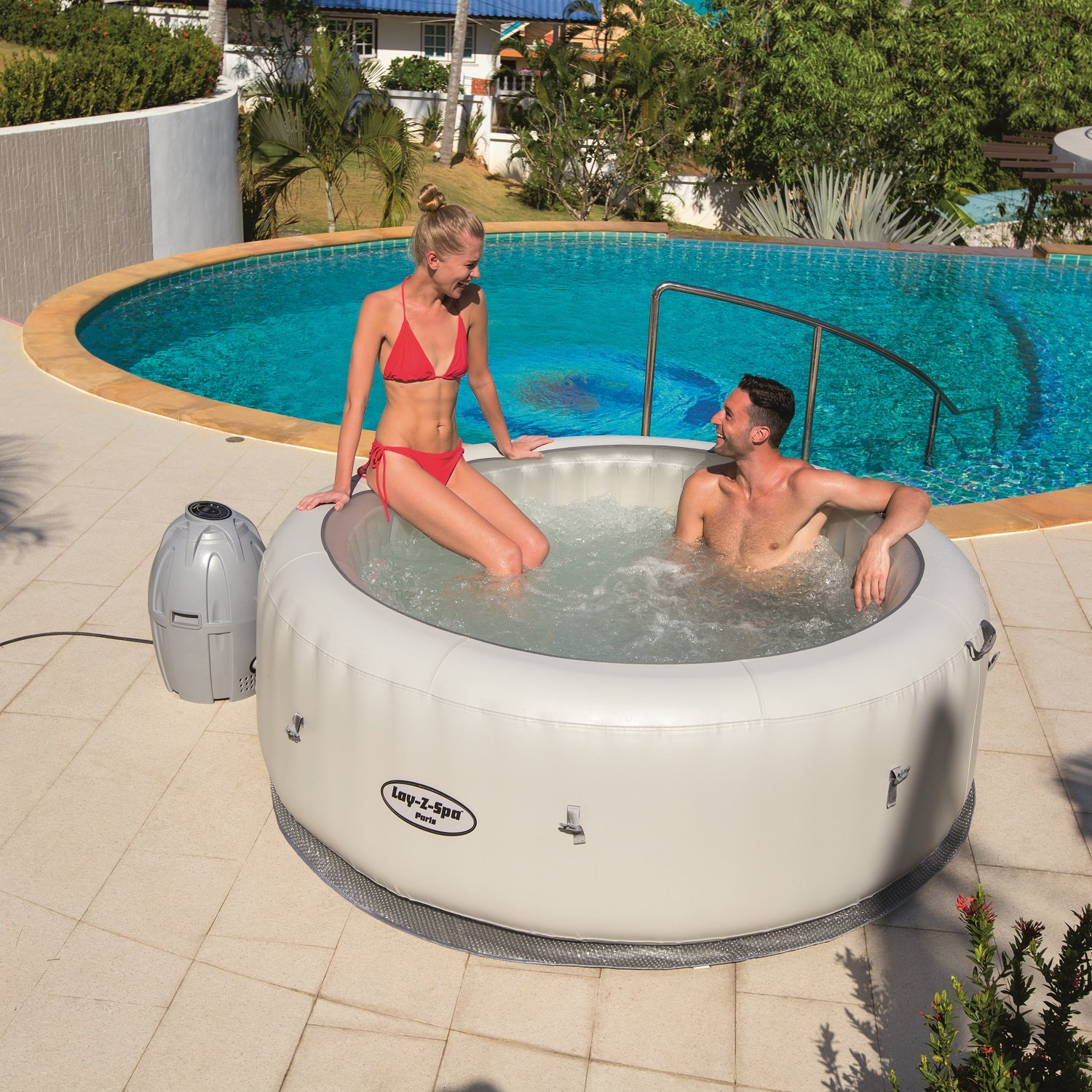 Bestway Lay-Z-Spa Paris Inflatable Hot Tub