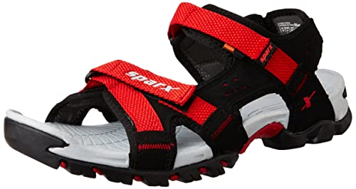 4adcea8fba3b48 Sparx Men s SS0447G Black and Red Athletic and Outdoor Sandals - 10  UK India (