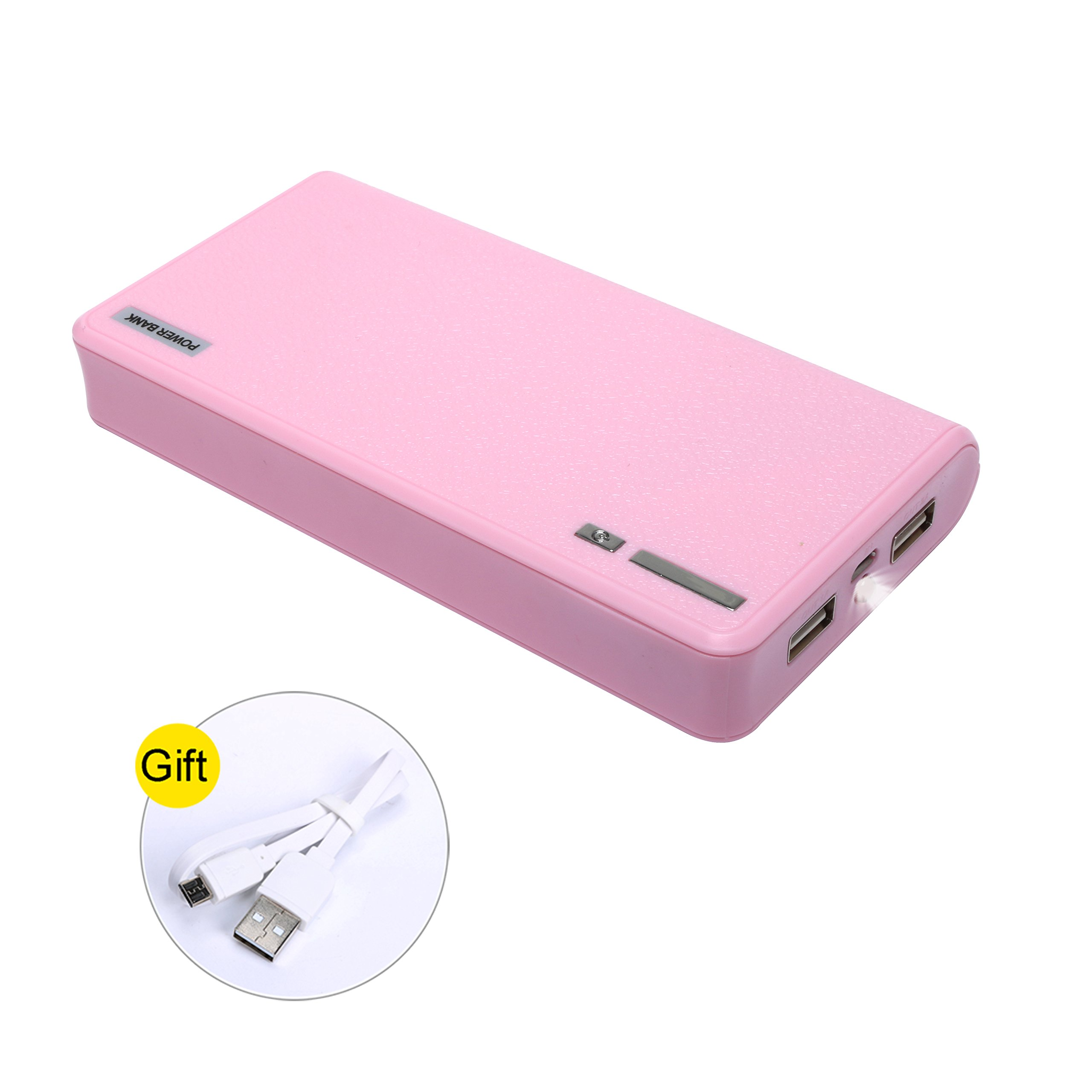 20000mAh Portable Charger Power Bank Ultra High Capacity - Phone Battery Packs Fast Charging for iPhone, iPad & Samsung Galaxy & More (PINK)